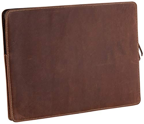 Tuk Tuk Press, Handmade Distressed Buffalo Leather, Luxury Laptop Sleeve, 11.5 Inches by 16 Inches by 18 Inches Diagonally
