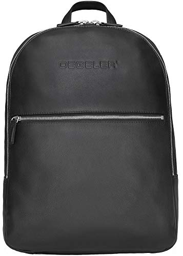 DEGELER Leather Business Backpack D1L with USB Charging Port - Carry-on Travel...