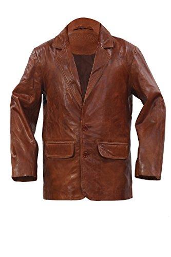 Intelligent Brown Blazer Slim Fit Manches Longues 2 Bouton Unique Poitrine Veste Nouveaux Hommes (2L)