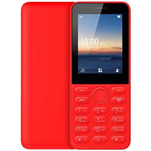 Teléfono de gran capacidad, teléfono de barra, teléfono de doble tarjeta de doble modo de espera, teléfono de estudiante con soporte de Wifi Bluetooth, teléfono de larga espera, teléfono rojo antiguo