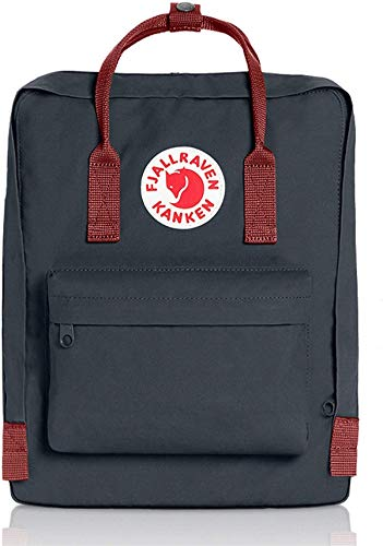 Classic Kanken Backpack for Everyday (Black-Ox-Red)
