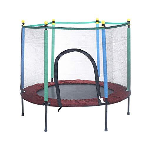 Trampolino per Bambini con Barra di stabilità Rete di Recinzione di Sicurezza Junior Domestico Bouncer Tappeto da Salto Esercizio e Gioco All'aperto e al Coperto Giocattoli per Bambini Fitness rimba