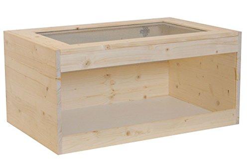 Happy-Nager Hamsterkäfig, Mäusekäfig, Rattenkäfig, Nagerkäfig aus Natur Holz 80 x 51 x 40