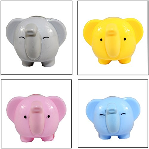 Gullor 4PCS a set Stylish cute Cranked Pencil Sharpener Quiet for School, Office and Home - elephant Shape