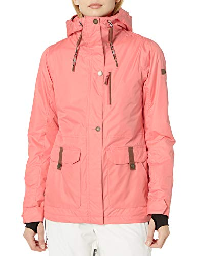 Roxy SNOW Women's Andie Spindye Jacket, living coral, XL