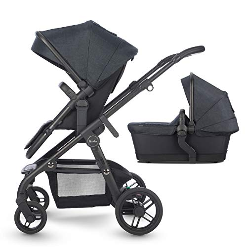 Silver Cross Coast Fully Adjustable 2-In-1 Baby Pram and Pushchair, Newborn to Toddler, With Accessories – Flint