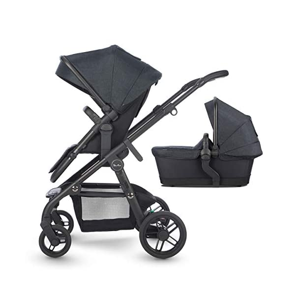 Silver Cross Coast Fully Adjustable 2-In-1 Baby Pram and Pushchair, Newborn to Toddler, With Accessories – Flint Silver Cross Newborn to toddler: Suitable from birth up to 6 months using the carrycot, and from 6 months to 25 kg with the pushchair seat attachment Strong and lightweight: Silver Cross high quality durable magnesium chassis weighs just 10.2kg, perfect for every trip, with 4-way independent wheel suspension and puncture proof tyres Compact: Quick and easy to fold down for transport and storage with a total of 27 clever configurations (Dimensions: L92-112 cm W60 cm H91-107 cm, folded: L94 cm W60 cm H34 cm) 1