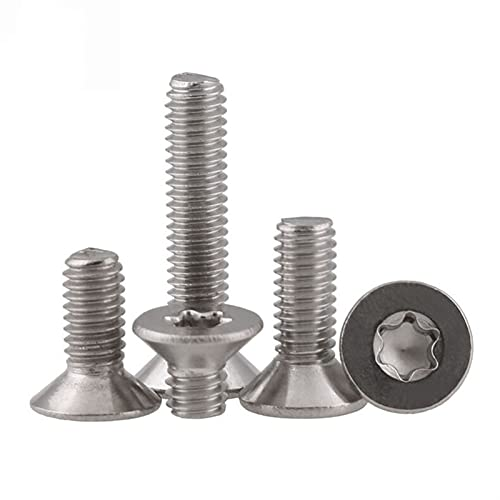 LRJBFC 480pcs/set ISO14581 GB2673 M2 M2.5 M3 304 Tornillo torx de Acero Inoxidable Tornillos de Seguridad de la Cabeza de Seis lóbulos de Seis lóbulos