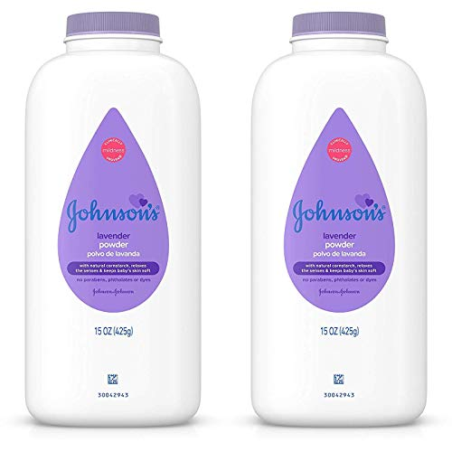 Johnsons Baby Powder Calming Lavender 15 Ounce (443ml) (2 Pack)