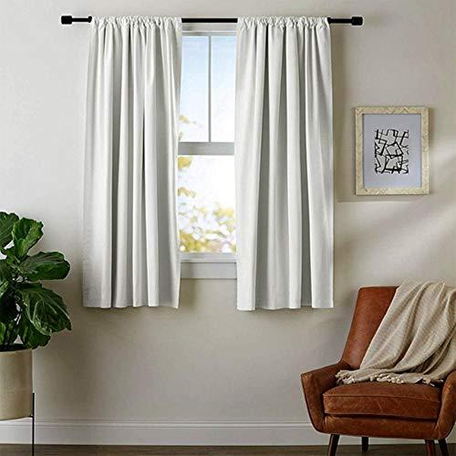 Cortinas opacas de cocina de Penveat, lisas, cortas, para sala de estar, dormitorio, ventanas, cortinas, decoración del hogar, 60 x 120 cm, 1 unidad
