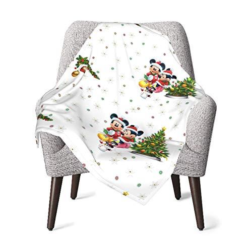 Mouses-Árbol de Navidad Copo de nieve Manta de bebé súper suave de felpa de poliéster cálida manta de recepción para niña y niño acogedora manta para cuna, cochecito