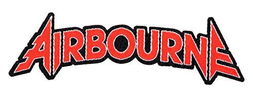Airbourne Red Logo Cut Out Aufnäher Patch - Gewebt & Lizenziert !!
