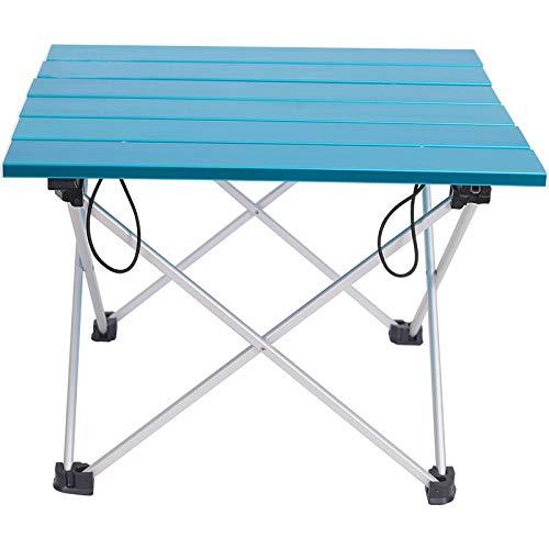 WNN-URG Mesa Plegable de Aluminio portátil afuera de Cena Senderismo Camping BBQ Trabajo DE Espacio Mesa ULTRALA URG (Color : Blue)