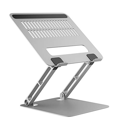 XYHLM Laptop Stand Foldable Stand Portable Laptop Riser Holder Ergonomic Adjustable Notebook Stand Compatible Laptop Or Tablet,Silver,Figure 3