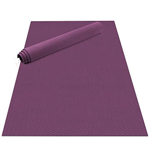 Odoland Gymnastikmatte Yogamatte 200 x 100 x 0,6 cm Große Übungsmatten Fitnessmatte rutschfest für Fitness Yoga Pilates Gymnastik Maße Violett