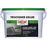 MEM Trockener Keller, Dauerhafte Sperrschicht gegen eindringendes Wasser, 2-komponentige Wand- und Bodenabdichtung, Gegen drückende Feuchtigkeit, 5 kg