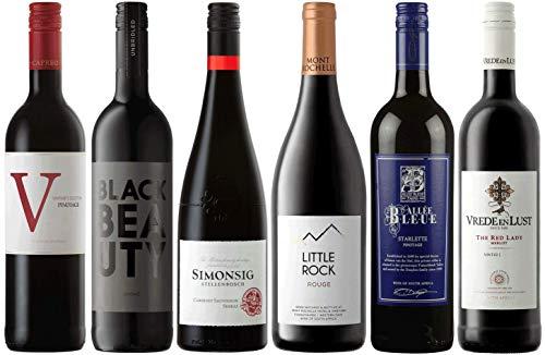CAPREO Weinpaket Rotwein | Probierpaket mit Rotweinen aus Südafrika (6 x 0.75l) | Trocken | Weine für jeden Geschmack
