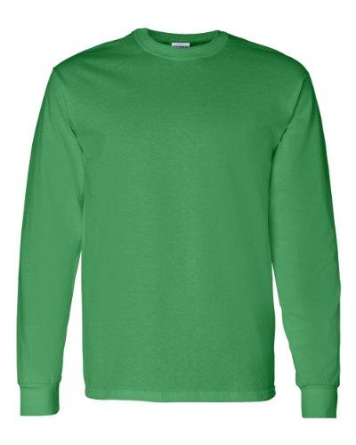 Gildan mens Heavy Cotton 5.3 oz. Long-Sleeve T-Shirt(G540)-IRISH GREEN-2XL