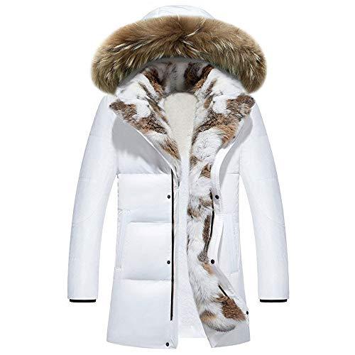 Piumino Lungo con Cappuccio Donna Spesso Temperamento Moda Invernale Giacca Calda Cappotto Lungo con Cappuccio in Nero