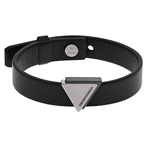 Emporio Armani - Bracelet with Black Leather Strap EGS2759060