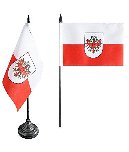 Tischflagge / Tischfahne Österreich Tirol + gratis Aufkleber, Flaggenfritze®