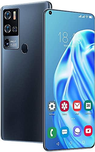WWJ Smartphone X50 PRO + Telefono Cellulare con Schermo Grande, Batteria Integrata da 5800 mAh, sblocco dell'impronta Digitale Veloce e Sicuro, Batteria da 5800 mAh