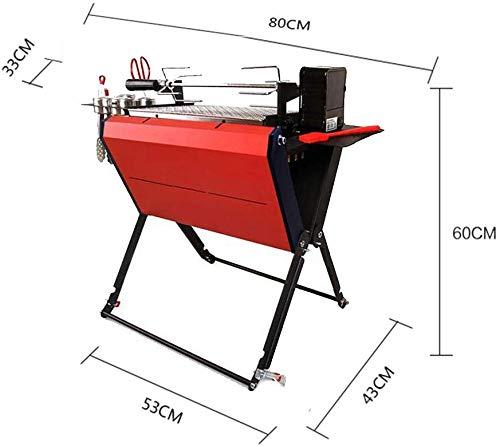 bcbx Barbecue - Foodmaking im Freien beweglichen Holzkohle-Grill Grill-Qualität verdickte Edelstahl Ten-fach ausziehbar Teleskopabschleppstange leicht zu montieren reinigen 8.5Kg,B