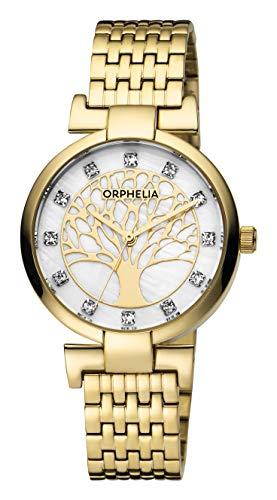 ORPHELIA Reloj Analogico para Mujer de Cuarzo con Correa en Acero Inoxidable OR12701