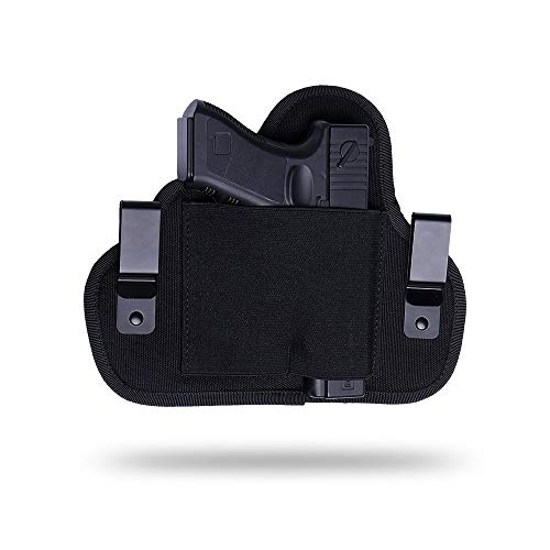 Universal Holster, Concealed Carry Holster, IWB Holster, Holster for Female/Male Fits Glock 21,23,26,39,42/S&W, M&P Shield /Ruger/Taurus, Black