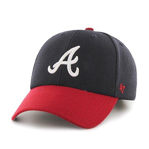 MLB Atlanta Braves Juke MVP Adjustable Hat, Navy-Home, One Size