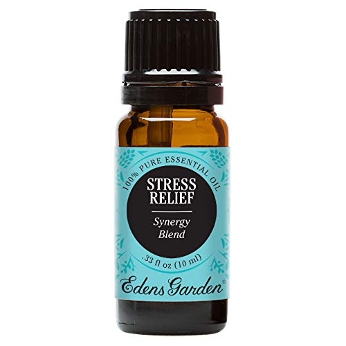 Stress Relief 100% Pure Therapeutic Grade Synergy Blend Essential Oil by Edens Garden-10 ml, GC/MS tested, CPTG