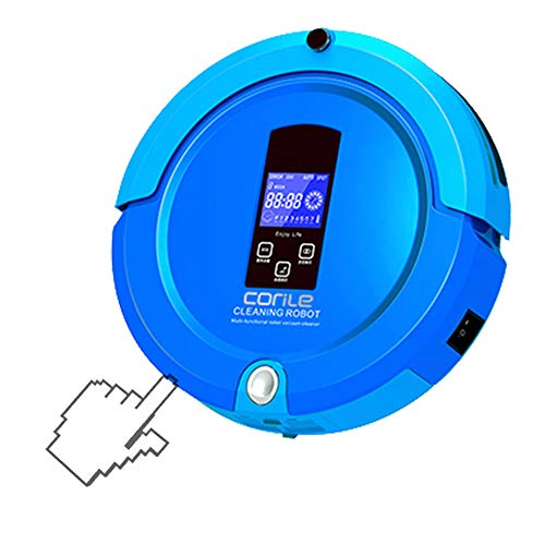 JQRXCQ Robot Aspirador Automático Potente Barrido y Arrastre Una Pared Virtual Inducción Evitación de obstáculos Robot de Barrido Inteligente,Azul