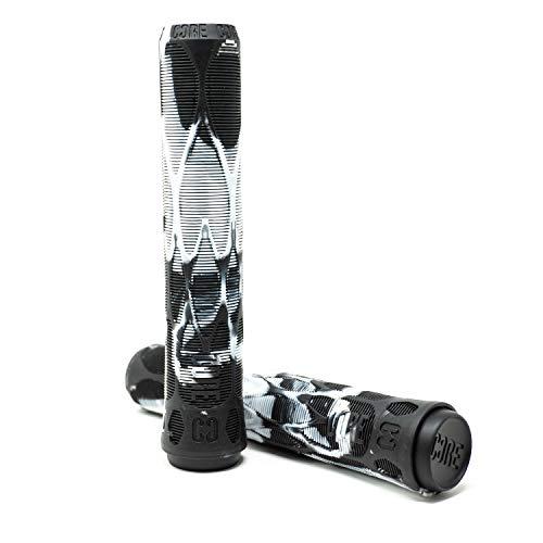 CORE Pro Stunt - Puños suaves para patinete (170 mm), color negro y blanco