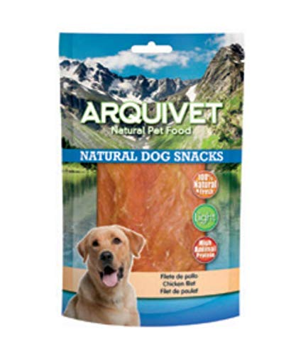 Arquivet Filete de pollo - Snacks naturales para perros - Natural Dog Snacks - Chuches para perros - Golosinas naturales para mascotas - Mejores snacks para perro - 1kg ⭐
