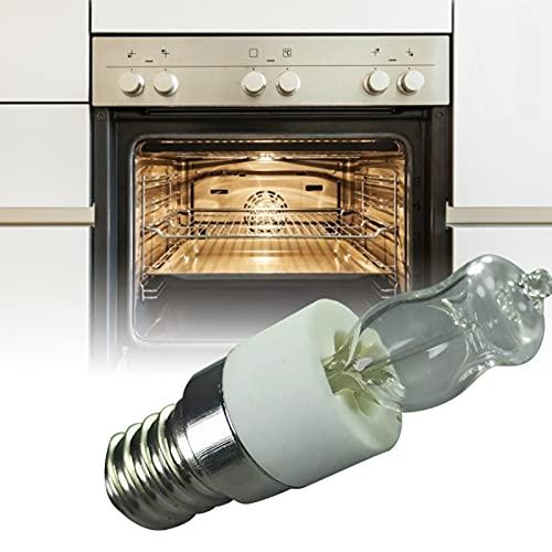 aniceday Juego De 2 Bombillas De Horno LED Lámpara De Horno Resistente Al Calor Bombilla Halógena para Refrigeradores, Ventiladores, Horno, hasta 500 Grados
