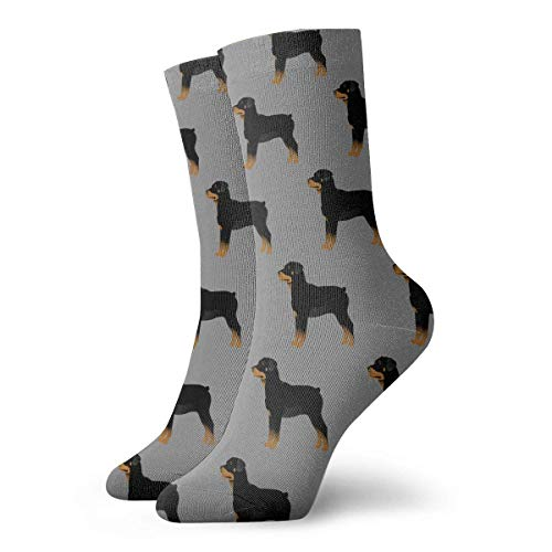 Rottweiler Dogs Casual Cotton Crew Socks Cute Funny Sock,great For Sports And Hiking