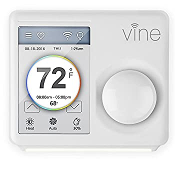 TJ-610 Vine Smart Wi-Fi Programmable Thermostat w/ 3.5  LCD Touchscreen