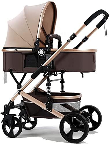 Cochecito de bebé ligero Pasteles portátiles Partido ligero y sillas de ruedas,cochecito portátil plegable compacto,multifunción de dos vías de dos vías de alto paisaje y mentira a prueba de golpes de