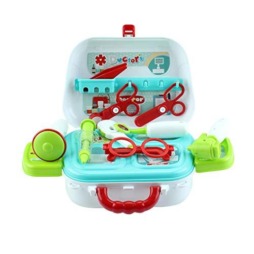Kinderen doen alsof dokter spelen schoudertas simulatie schaar koffer kinderen plastic speelgoed set