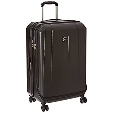 Delsey Luggage Helium Shadow 3.0, Medium Checked Luggage, Hard Case Spinner Suitcase, Black