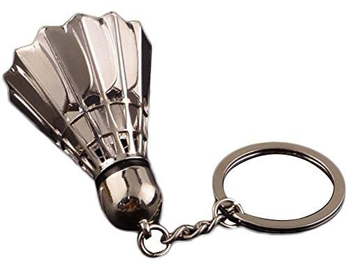 ruikey Schlüssel Metall Kette Creative Badminton Schlüsselanhänger Ring Damen Tasche Geldbörse Charm Anhänger Geschenk