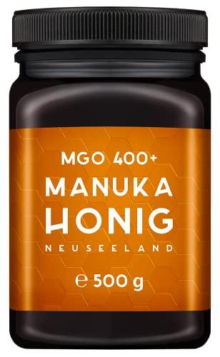 MELPURA Manuka-Honig MGO 400+ 500g aus Neuseeland mit zertifiziertem, natürlichem Methylglyoxal-Gehalt – Laborgeprüft, verifizierte Herkunft, fairer Handel direkt vom Erzeuger