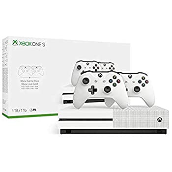 Xbox One S Two Controller Bundle  1TB  Includes Xbox One S Extra Wireless Controller 3-Month Game Pass Trial 14-day Xbox Live Gold Trial