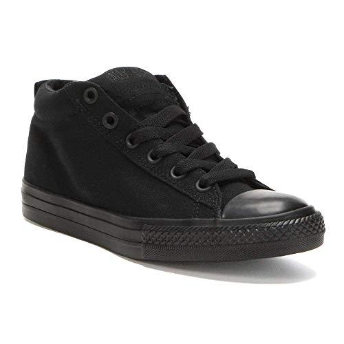 Converse Kids Chuck Taylor Street Cab Mid Fashion Sneaker Shoe - Black Monochrome - Boys - 11.5