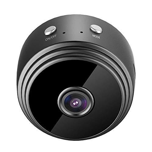 WishHome Mini cámara A9, mini cámara WiFi magnética, cámara oculta inalámbrica, 1080P HD mini cámara espía para seguridad en el hogar, soporte de visualización remota, visión nocturna, alarma push