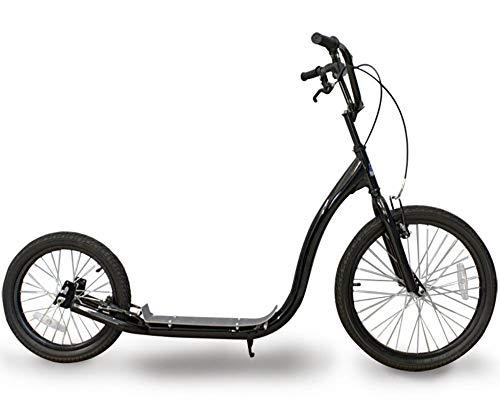 KE Bikes Tretroller City Scooter Roller Master 20' / 16' Zoll Dogscooter Kickstooter in Schwarz
