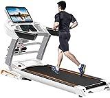 Cinta de correr Multifuncional 4.5HP 15.6inch Pantalla de color WiFi 15 Ajuste de la pendiente Absorción de choque plegable hidráulico Ultra silencioso Prueba de ritmo cardíaco Máquina para correr par