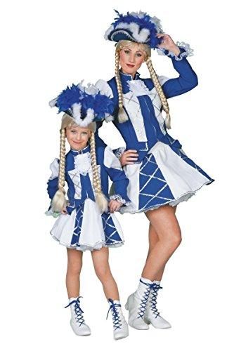 Wilbers Garde Kinder Kostüm Tanzmariechen weiß-blau Karneval Fasching Gr.140