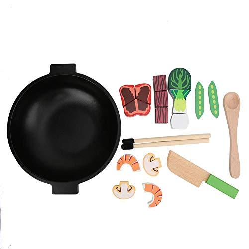 Juguete de Cocina para cocinar, Accesorios duraderos simulados, Utensilios de Cocina inofensivos cuidadosamente pulidos, Material de Madera de Calidad no(Look Closely at The Large Casserole)