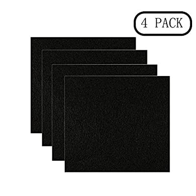 Knowled Set of 4 Activated Carbon Filters, Replacement Filters for Cat Litter Boxes with Hood, Cat Litter Filters, Carbon Smell Filters from Knowled
